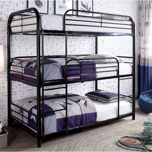 Furniture of America - Sleeps (3)  Triple Bunk Bed Twin/Twin/Twin in Black by Furniture of America