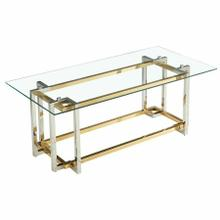 See Details - Florina Rectangular Coffee Table in Silver and Gold