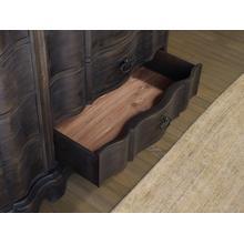 See Details - Corsica Dark Eight Drawer Dresser