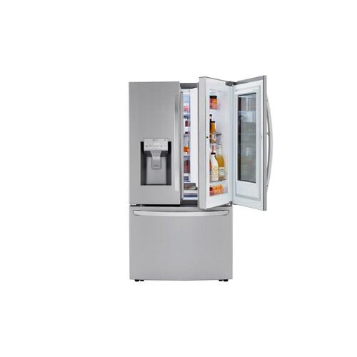 Product Image - 24 cu. ft. Smart wi-fi Enabled InstaView™ Door-in-Door® Counter-Depth Refrigerator with Craft Ice™ Maker