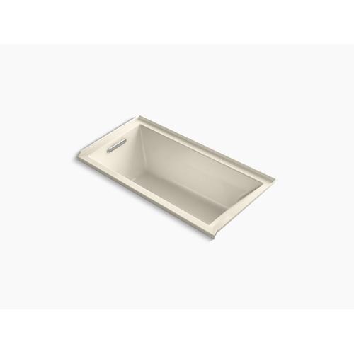 """Almond 60"""" X 30"""" Alcove Bath With Integral Flange and Left-hand Drain"""