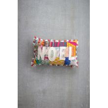 See Details - Christmas Noel Kantha Pillow