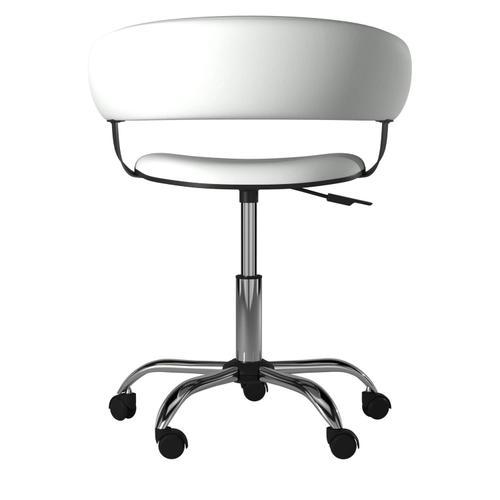 Powell Company - White Gas Lift Desk Chair