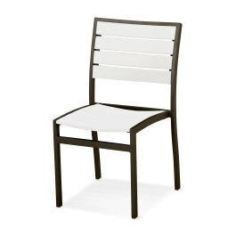Polywood Furnishings - Eurou2122 Dining Side Chair in Textured Bronze / White