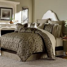 9 Pc Queen Comforter Set Bronze