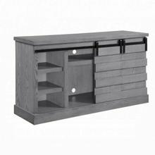 ACME Amrita TV Stand w/Fireplace (LED) - 91616 - Farmhouse - Fireplace: Plastic+Glass, Veneer (Paper), MDF - Gray Oak