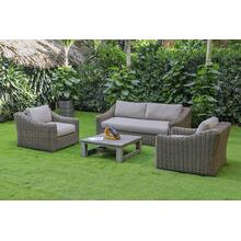 Renava Sapelo Outdoor Beige Wicker Sofa Set