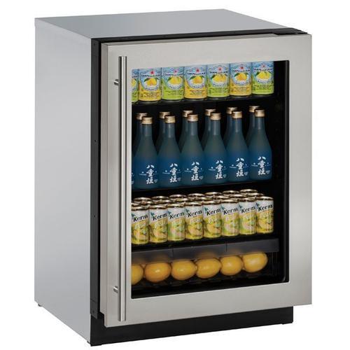 "3024rgl 24"" Refrigerator With Stainless Frame Finish (115 V/60 Hz Volts /60 Hz Hz)"