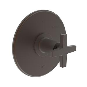 English Bronze Balanced Pressure Shower Trim Plate with Handle. Less showerhead, arm and flange.