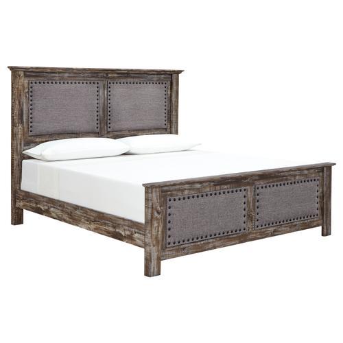 Ashley Furniture - Lynnton - Rustic Brown 3 Piece Bed (King)