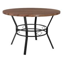 "45"" Round Dining Table in Coffee Wood Finish"