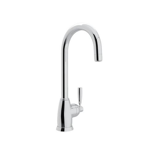 Holborn Single Hole Bar and Food Prep Faucet with C Spout - Polished Chrome with Metal Lever Handle