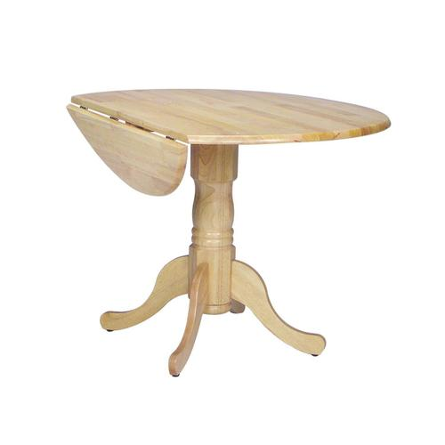 Gallery - Round Dropleaf Pedestal Table in Natural