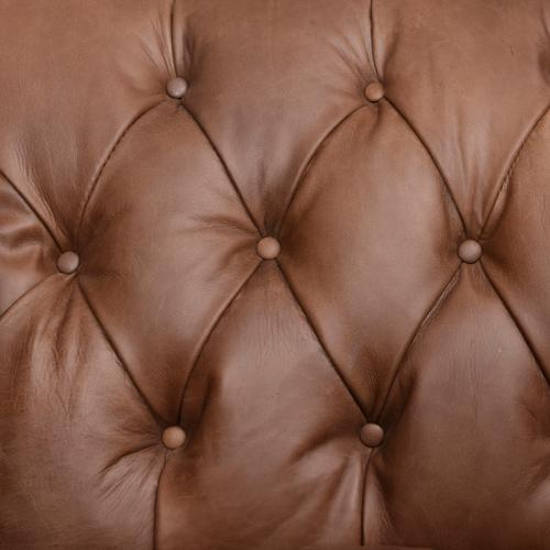 Natural Washed Chocolate Cover Williams Leather Chair