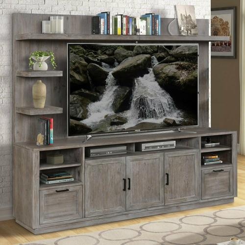 VECTOR TV Console with Hutch