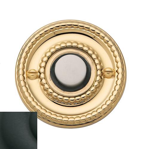 Satin Black Beaded Bell Button