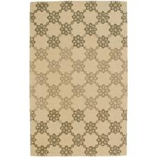 Daisy Chain Dusty Yellow - Rectangle - 5' x 8'