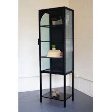 See Details - iron and glass cabinet