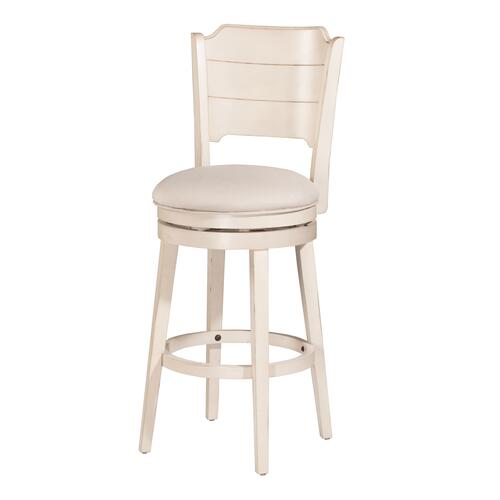 Clarion Swivel Counter Height Stool - Sea White