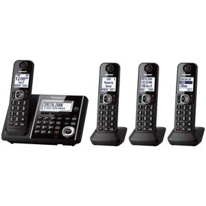 Expandable Cordless Phone with Answering Machine - 4 Handsets