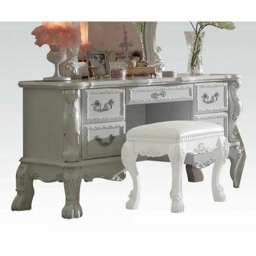 ACME Dresden Vanity Desk - 30670 - Antique White