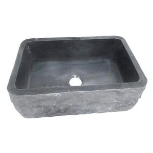 "Birgitta Single Bowl Granite Farmer Sink - Polished Black / 36"" Product Image"