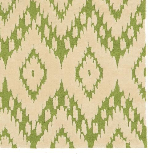 Trio Green/ivory 1ft10in X 2ft10in