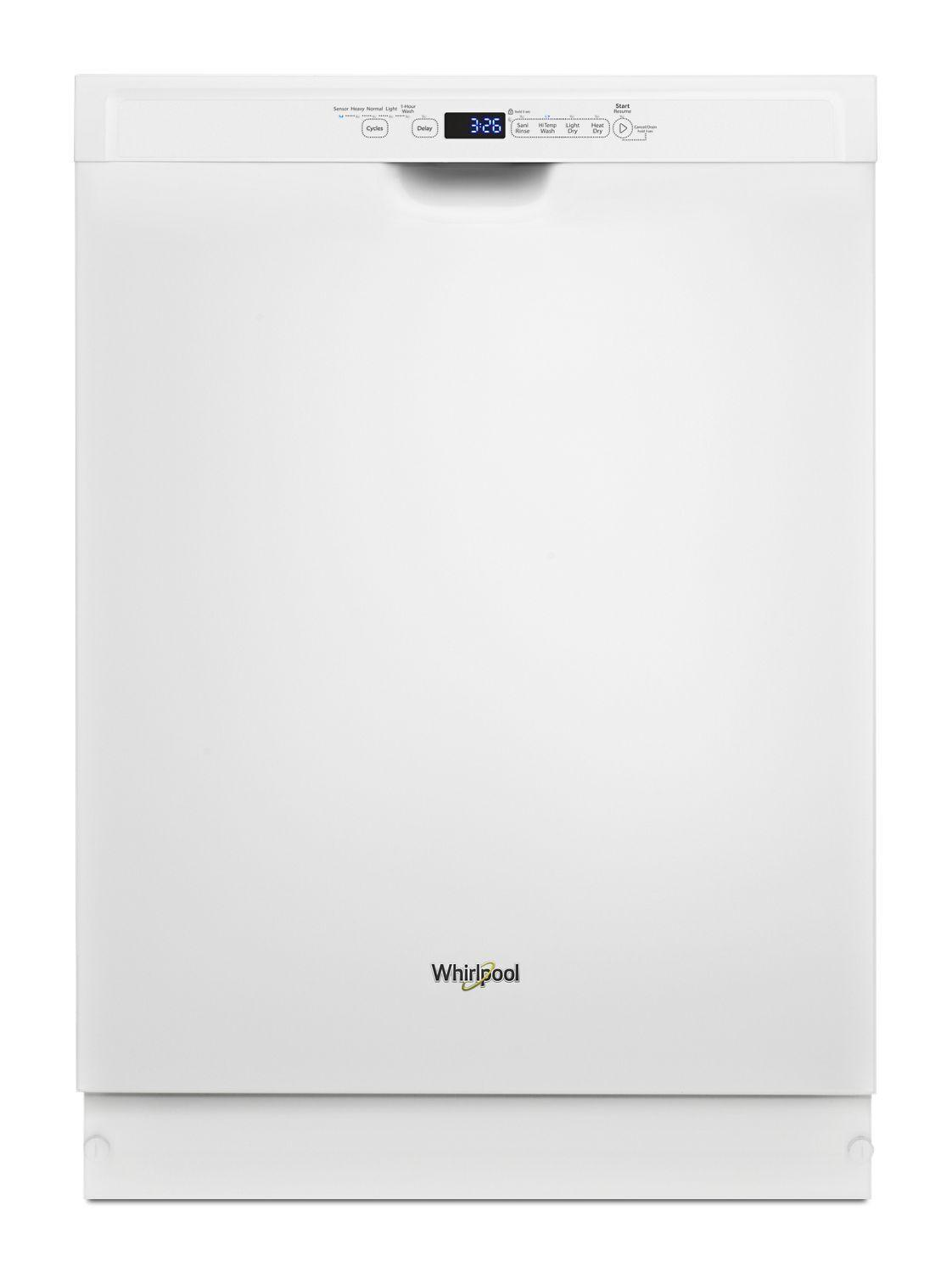 WhirlpoolStainless Steel Dishwasher With 1-Hour Wash Cycle White