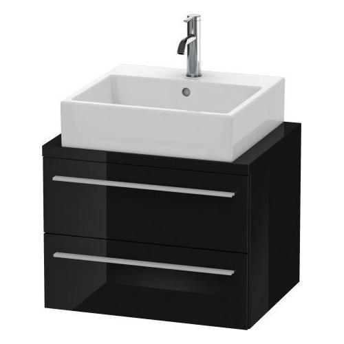 Duravit - Vanity Unit For Console Compact, Black High Gloss (lacquer)