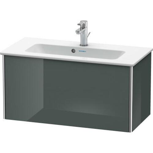 Product Image - Vanity Unit Wall-mounted Compact, Dolomiti Gray High Gloss (lacquer)