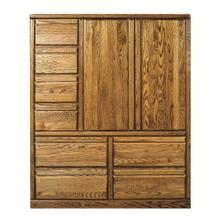 See Details - Forest Designs Bullnose Eight Drawer Armoire: 46W x 60H x 18D