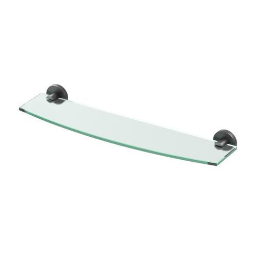 Reveal Glass Shelf in Matte Black