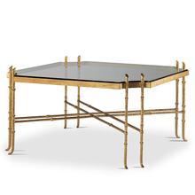 Golden Regency Metal Cocktail Table