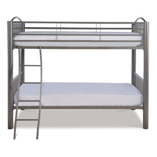 Powell Company - Heavy Metal Pewter Twin Over Twin Bunk Bed