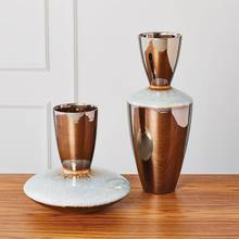 See Details - Martas Vase-Bronze Reactive Blue-Low