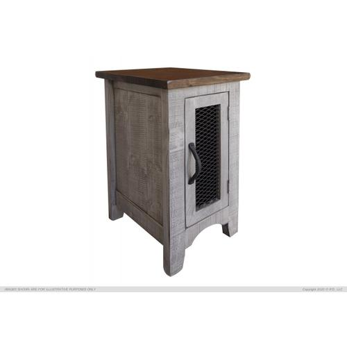 Chair Side Table 1 Door