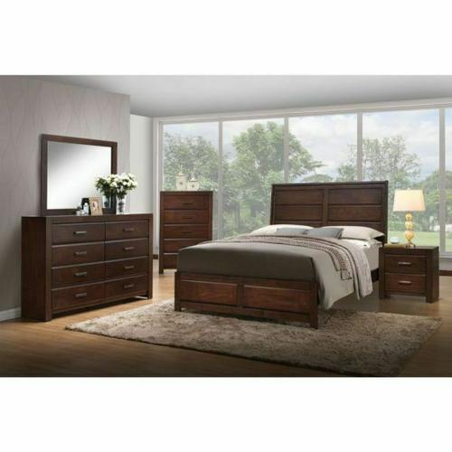 ACME Oberreit Eastern King Bed - 25787EK - Walnut