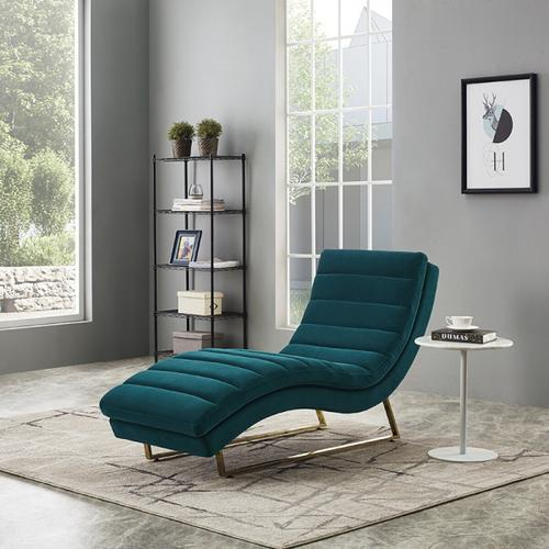 VIG Furniture - Divani Casa Auburn Modern Green Velvet Lounge Chaise