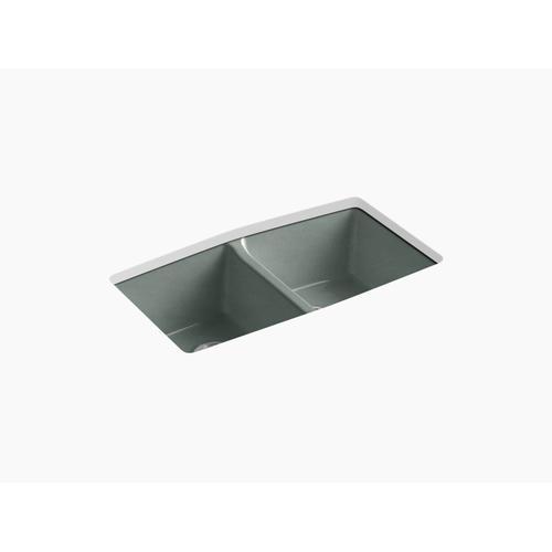 """Basalt 33"""" X 22"""" X 9-5/8"""" Undermount Double-equal Kitchen Sink"""