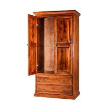 See Details - Forest Designs Traditional Antique Wardrobe: 36W X 72H X 21D w/ Two Drawers - 36w