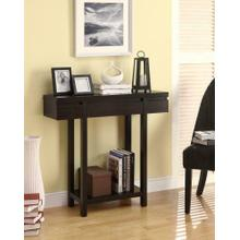 See Details - Contemporary Cappuccino Console Table