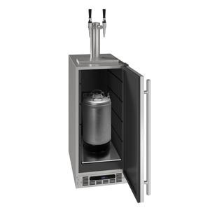 "U-Line15"" 2 Tap Nitro Coffee Dispenser With Stainless Solid Finish (115 V/60 Hz Volts /60 Hz Hz)"