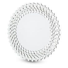 Round Facet Silver Mirror 8017