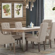 Rectangular Dining Table (includes 1 X 18 Leaf)