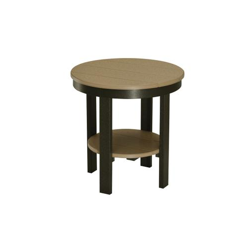 Round Dining Height End Table