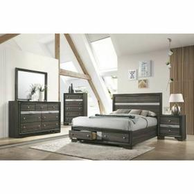 ACME Naima Queen Bed w/Storage - 25970Q - Gray