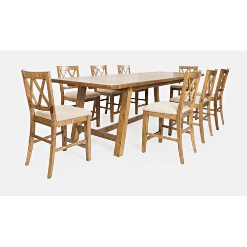 Telluride Trestle Table W/(8) Stools
