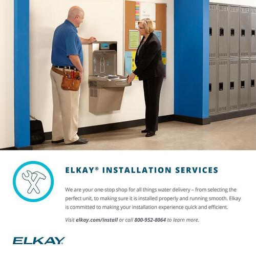 Elkay EZH2O Retrofit Bottle Filling Station & Soft Sides Fountain, Non-Filtered 8 GPH Stainless