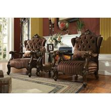 ACME Versailles Chair w/1 Pillow - 52082 - Brown Velvet & Cherry Oak