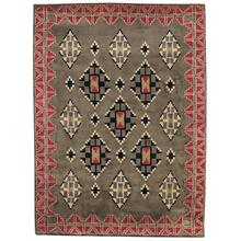 Stairstep Sage Red Hand Tufted Rugs
